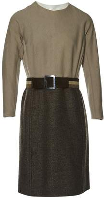 BEIGE Non Signé / Unsigned Non Signe / Unsigned Wool Dresses