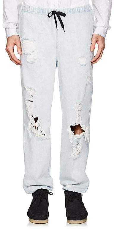 Alexander Wang Men's Distressed Denim Jogger Pants