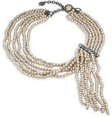 Nanette Lepore Fringed Faux Pearl Necklace