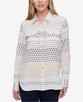 Tommy Hilfiger Printed Utility Shirt, Created for Macy's