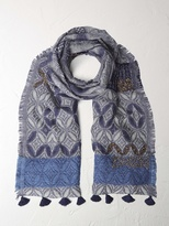 White Stuff Patchwork prairie scarf