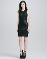 L'Agence Stretch Leather Dress