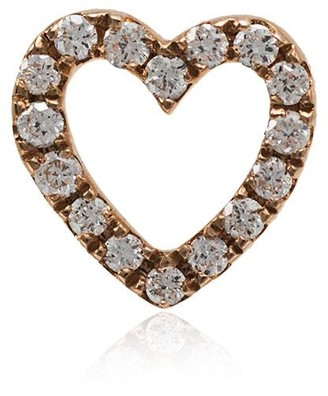 Loquet 18k Rose Gold And Diamond Heart Charm