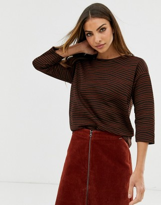 B.young stripe textured jumper