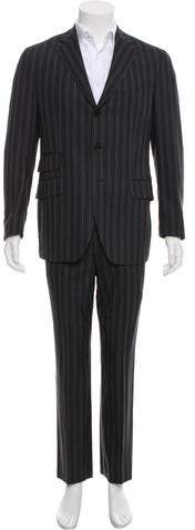 Etro Striped Wool Two-Piece Suit