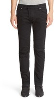 Pierre Balmain Men's Black Seven-Pocket Moto Jeans