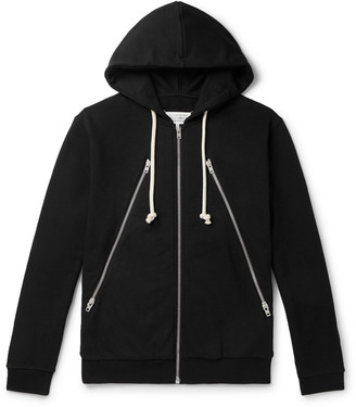 Maison Margiela Loopback Organic Cotton-Jersey Zip-Up Hoodie