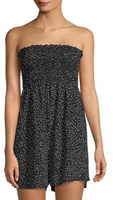 f077755fe03c Strapless Printed Romper - ShopStyle
