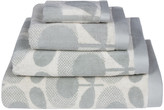 Orla Kiely Speckled Flower Oval Towel - Granite - Bath Sheet