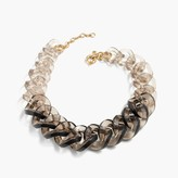 J.Crew Squared Lucite link necklace
