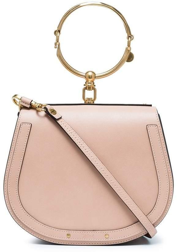 Chloé Beige Nile large leather bracelet bag