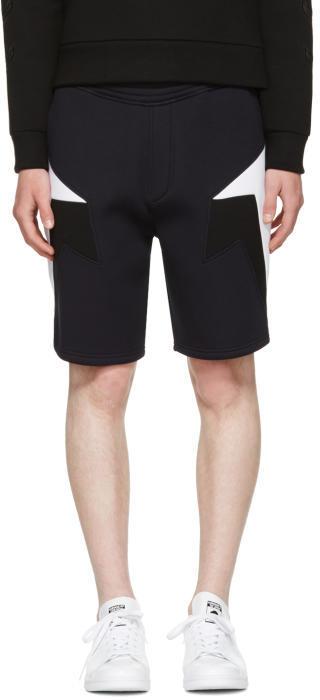 Neil Barrett Navy Tricolor Modernist Shorts