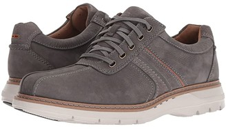 Clarks Un Ramble Go (Dark Grey Tumbled Leather) Men's Lace up casual Shoes