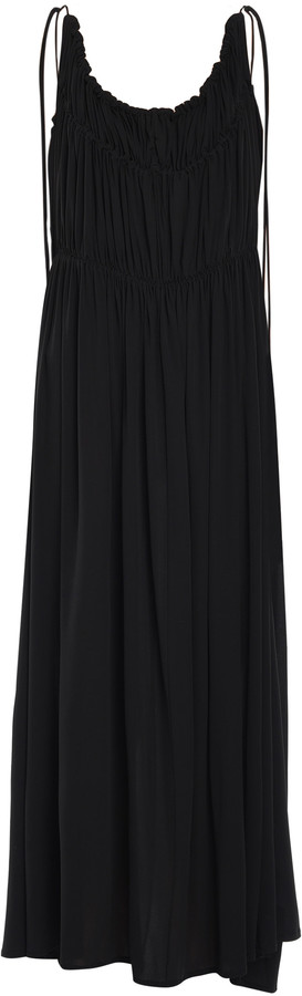 Jil Sander Scoop Neck Relaxed Sleeveless Midi Dress