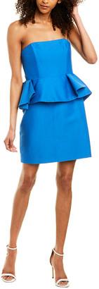 Halston Silk-Blend Cocktail Dress