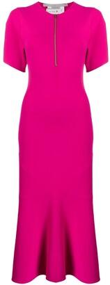 Stella McCartney Zip-Front Flared Dress