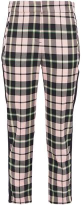 Veronica Beard Cropped Checked Woven Slim-leg Pants