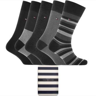 Tommy Hilfiger 5 Pack Socks Gift Set Black