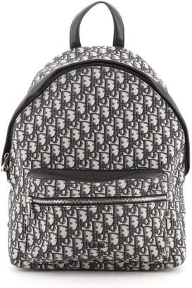 Christian Dior Zip Around Backpack Oblique Canvas Medium