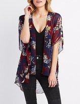 Charlotte Russe Floral Print Kimono