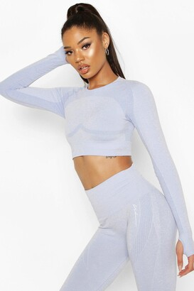 boohoo Fit Contouring Seamless Long Sleeve Crop Top