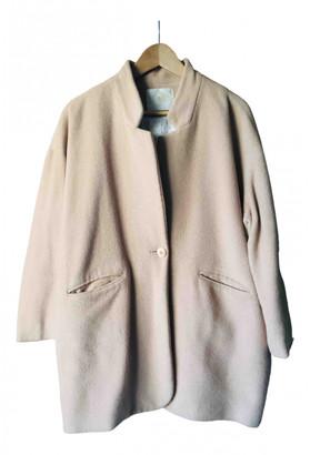 Des Petits Hauts Beige Wool Coats