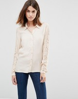 Vila Lace Sleeve Shirt