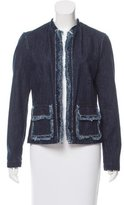 Tomas Maier Fringe-Trimmed Denim Jacket