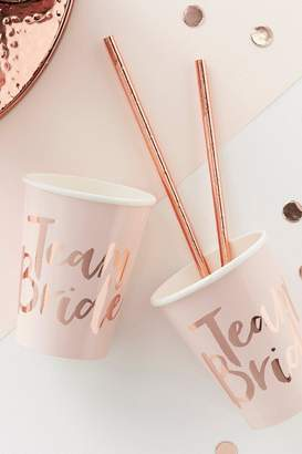 boohoo Team Bride Hen Party Cups 8 Pack