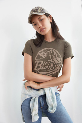 Junk Food Clothing Big Bend Graphic Tee By in Green Size XS
