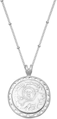 Missoma Lucy Williams Silver Rising Sun Medallion Coin Necklace