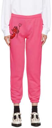 Ashley Williams Pink Cherub Devil Jogger Lounge Pants
