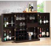 Baxton StudioStamford Bar Cabinet in Dark Brown