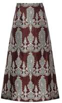 Alessandra Rich Printed silk-blend skirt