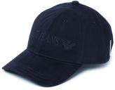 Armani Jeans Navy Twill Cotton Baseball Cap