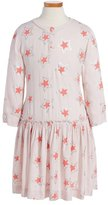 Stella McCartney 'Cosmic Star' Drop Waist Dress (Toddler Girls, Little Girls & Big Girls)