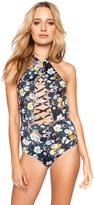 Beach Riot Starry One Piece in Black Flower