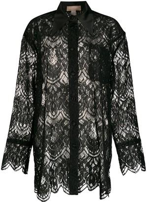 MATÉRIEL Lace Oversized Shirt