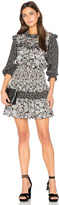 Rebecca Taylor Long Sleeve Bijou Patch Dress