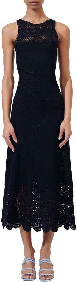 Maje Knit Sleeveless Midi Dress