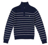 Nautica Little Boys' Striped Quarter Zip Pullover Sweater (4-7)