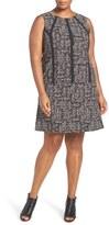 Nic+Zoe Plus Size Women's Nic + Zoe 'Dots Direction' Shift Dress