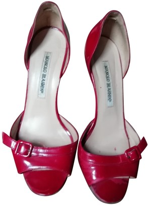 Manolo Blahnik Red Patent leather Heels