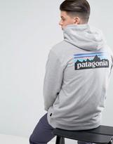 Patagonia P-6 Full-Zip Hoodie With Back Logo In Grey Marl