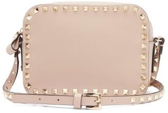 Valentino Rockstud Grained-leather Camera Bag - Womens - Nude