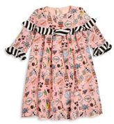 Fendi Toddler's, Little Girl's & Girl's Ruffled Space-Print Cotton Dress