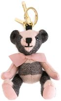Burberry 'Thomas' bear keyring - women - Leather/Polyamide/Cashmere - One Size