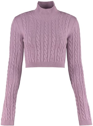 GCDS Wool Blend Turtleneck Sweater
