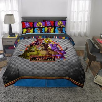 Five Nights at Freddy's Kids Bed in a Bag Bedding Set, Pizza Security, 5Pc Full