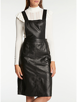 Somerset by Alice Temperley Leather Pinafore Dress, Black